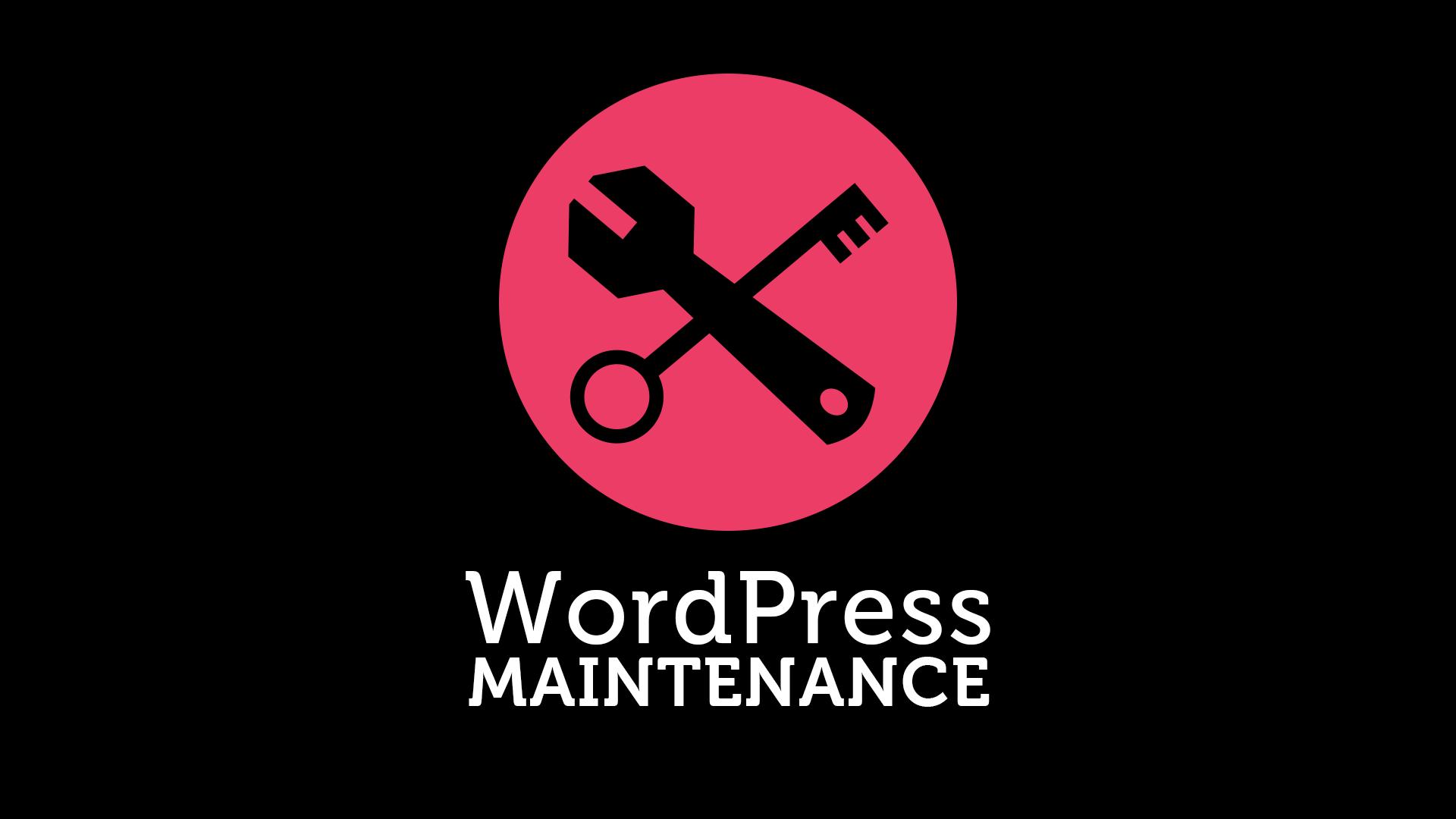 WordPress Maintenance - Mark Robinson - Digital Creative